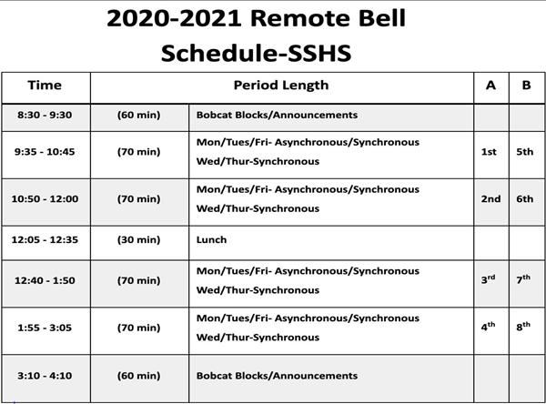 Saisd Calendar 2022.Bell Schedule Overview