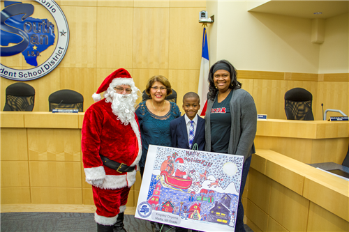 Madla Student Wins in District's First-Ever Christmas Card Contest