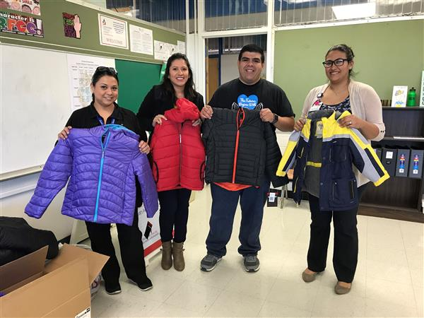 Kindred Elementary Receives Donation of Winter Coats for Students in Need