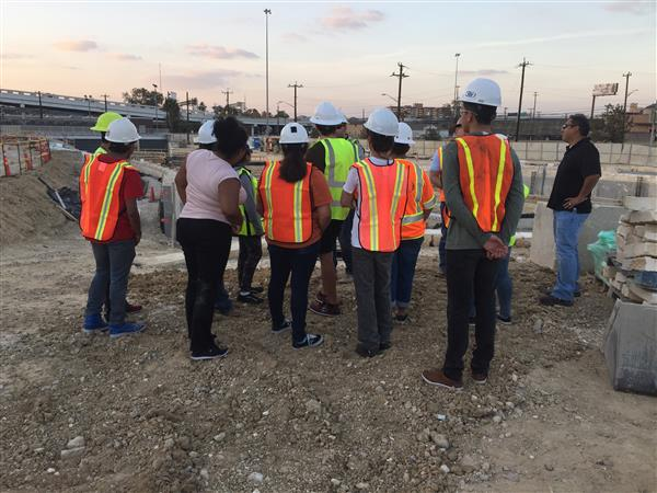 SSAHS CTE Students Attend Construction Project Field Trip