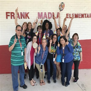 The staff of Frank Madla Elementary is celebrating...
