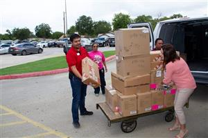 Office Depot drops off donated supplies