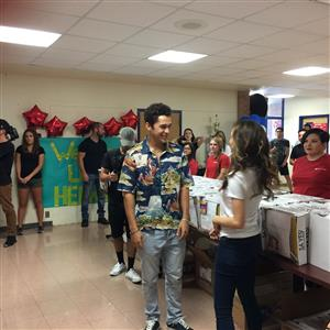 Austin Mahone suprises students with supplies