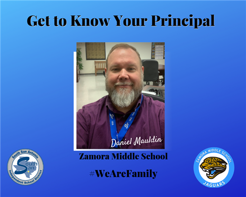 Zamora Middle School principal wants to create life-long learners
