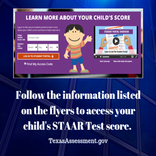 Parents Access Your Child's STAAR Test Scores.