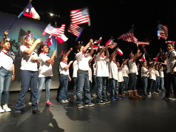 Patriotic and poignant performances featured at SSAISD Veterans Day Program