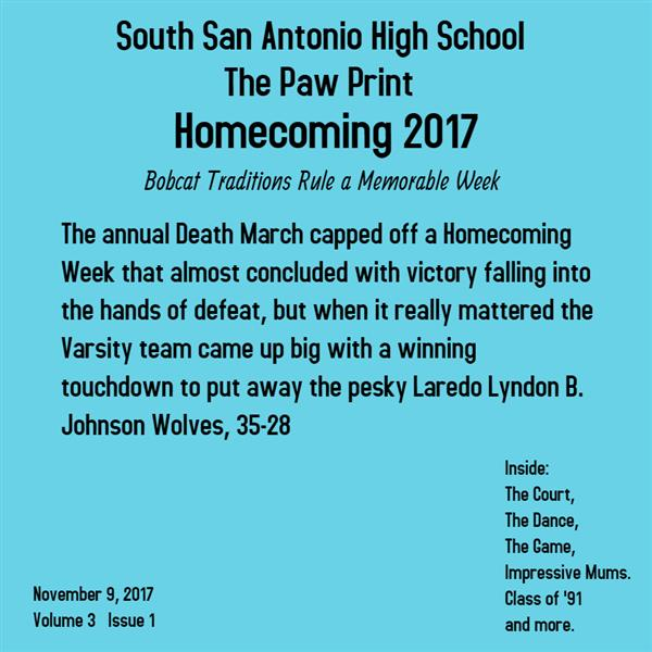 Read SSAHS Paw Print - Homecoming Edition #1