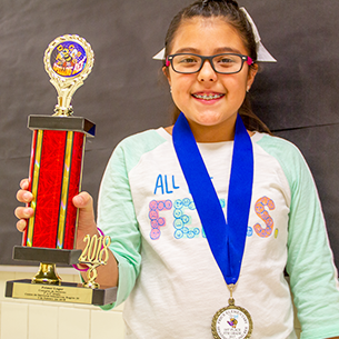 Price Elementary Student Wins First Place At Regional Spanish Spelling Bee