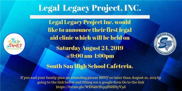Announcing the first legal aid clinic at South San ISD