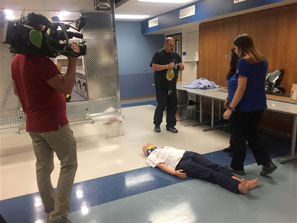 South San High School's Health Science Academy makes the sports newscast!