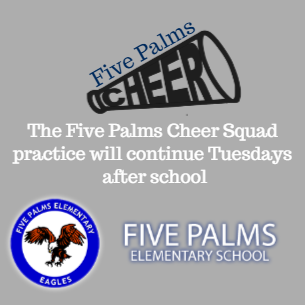 Eagle Cheer Squad Practice Tuesdays after school